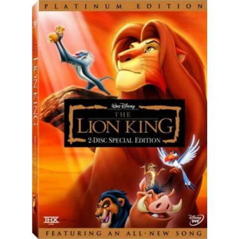AU $22 BUY: The Lion King Platinum Edition Kids Movie on DVD in Australia