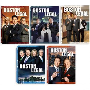 AU $103 BUY: Boston Legal Complete Series Seasons 1-5 on DVD in Australia