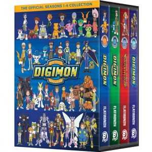 AU $115 BUY: DIGIMON COMPLETE SERIES SEASONS 1-4 ON DVD IN AUSTRALIA
