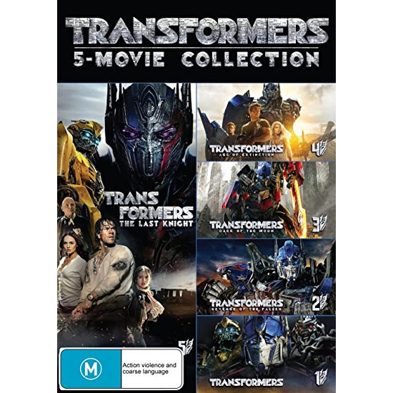AU $48 BUY: Transformers 5 Movie Collection on DVD in Australia