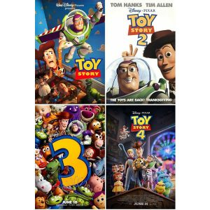 Toy Story 1-4 Kids Movie DVD