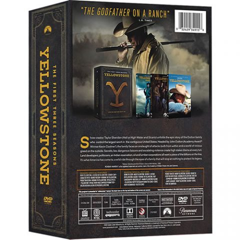 Yellowstone, Complete Seasons 1-3 DVD